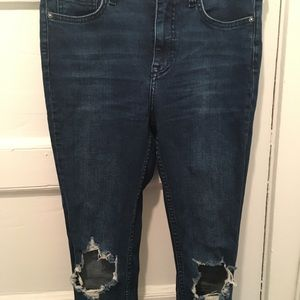 Free People Jeans - Free People High-Rise Busted Skinny Jeans